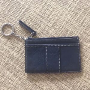Coach leather key chain card holder